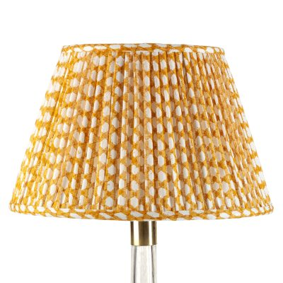 Lampshade In Yellow Wicker Fermoie, Chandelier Table Lamp Shades Uk