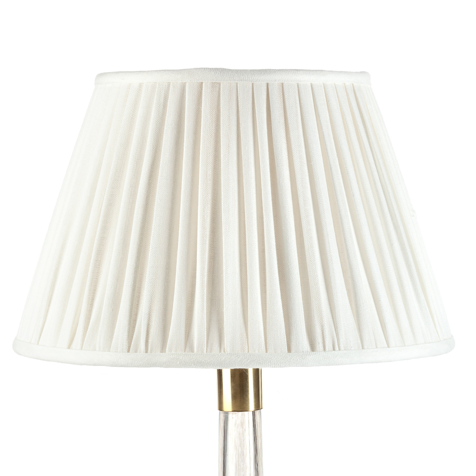 Fabric Bell-Shaped Lamp Shade In Beige by Glenwood Designs