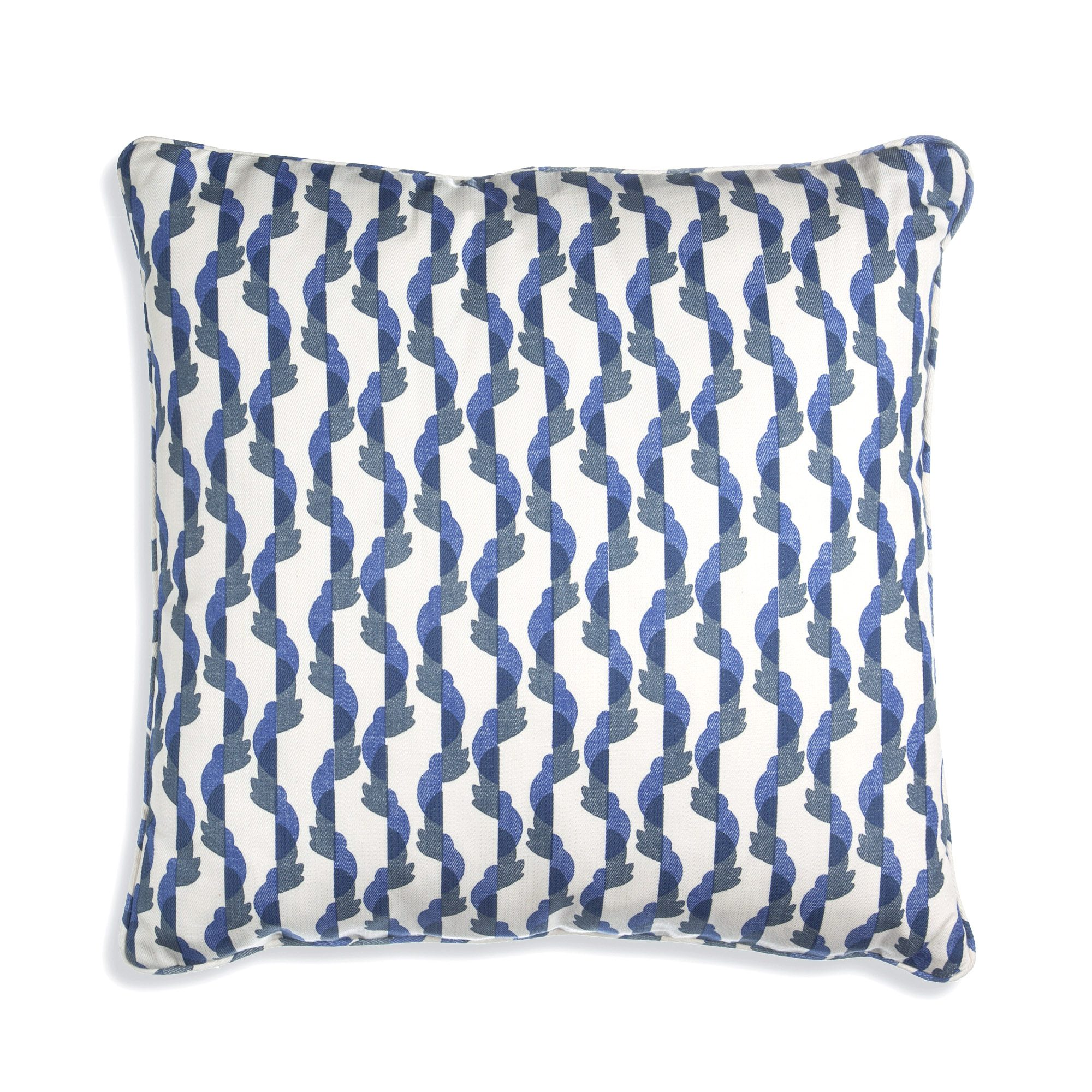 Small Square Cushion in Blue Botany