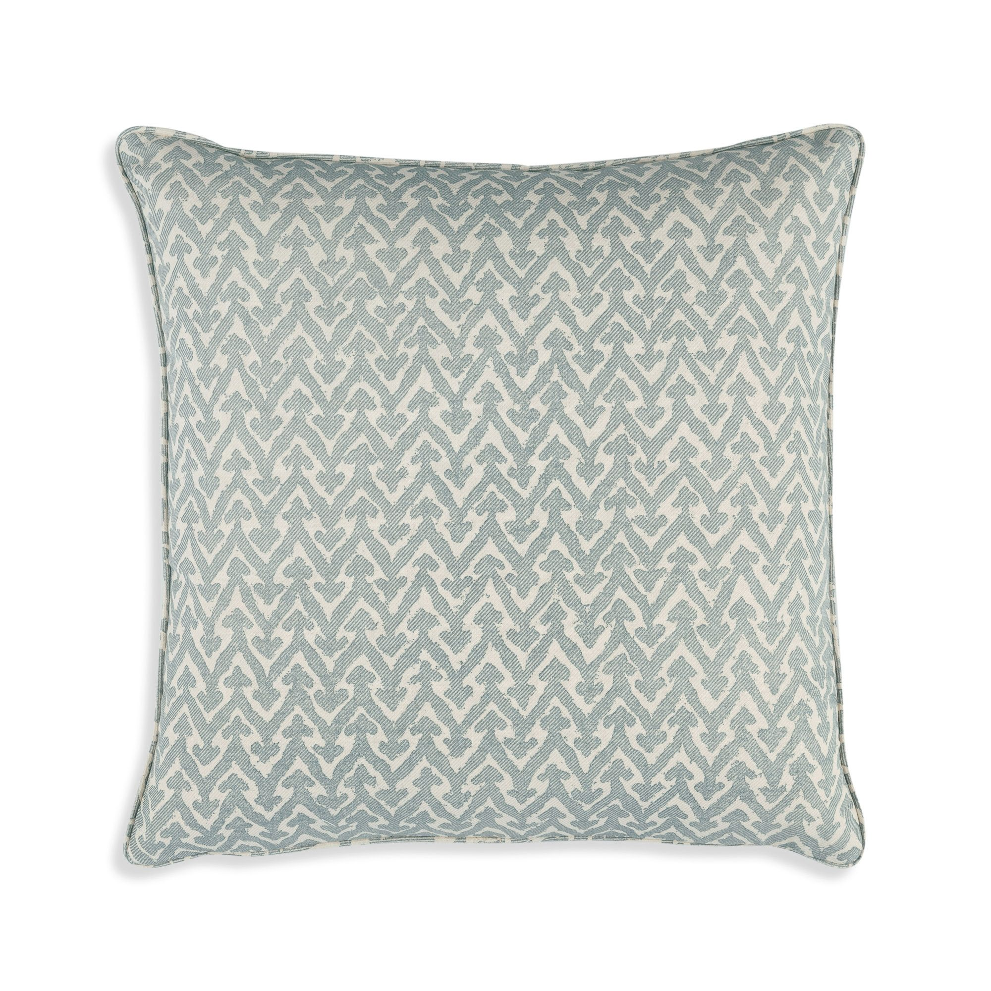 Small Square Cushion in Light Blue Rabanna