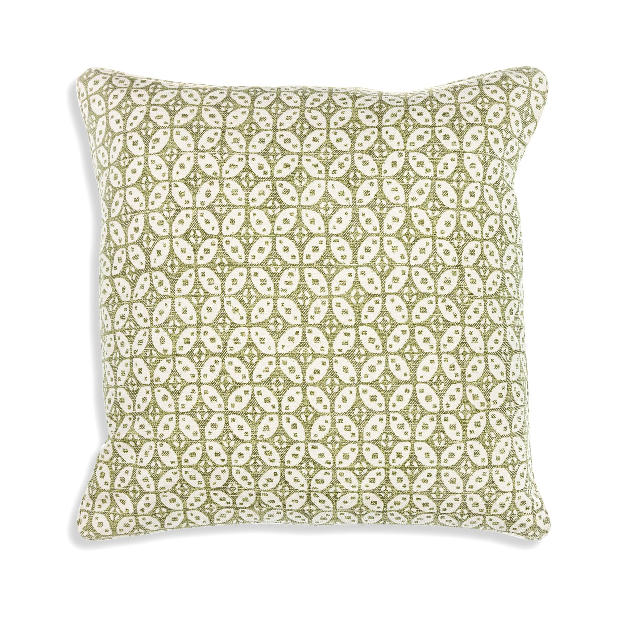 Small Square Cushion in Green Hamble