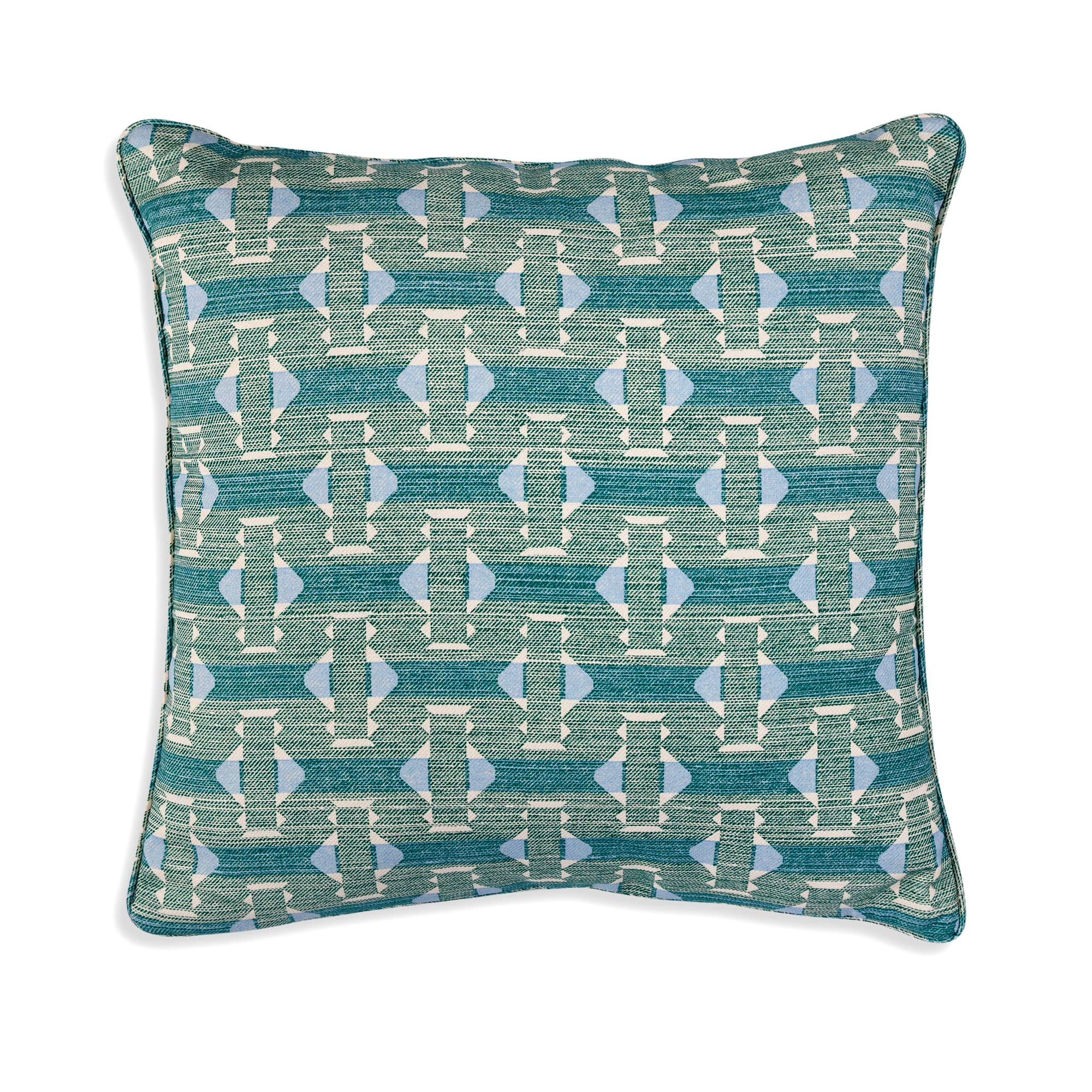 Small Square Cushion in Green Sicily