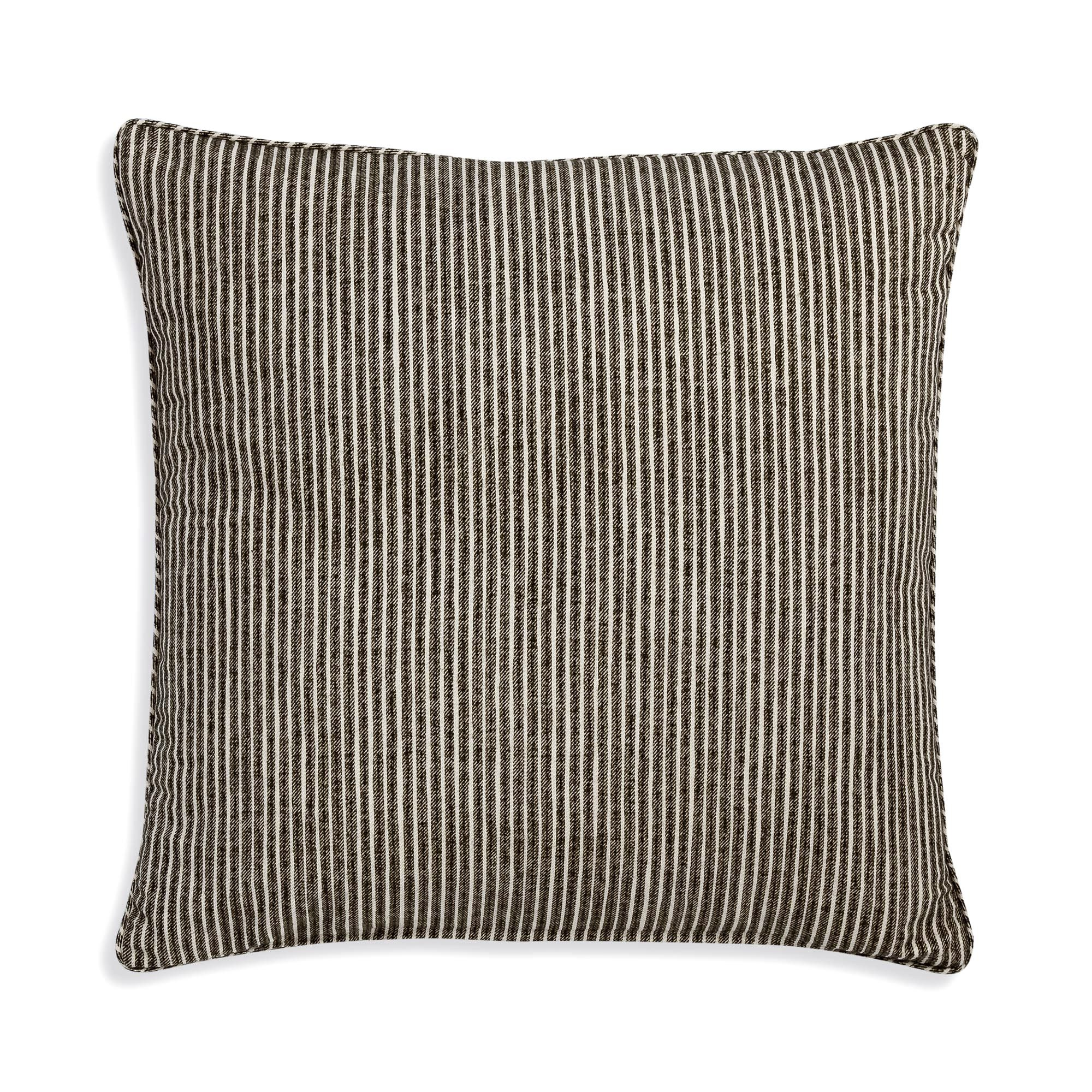 Small Square Cushion in Neutral Poulton Stripe