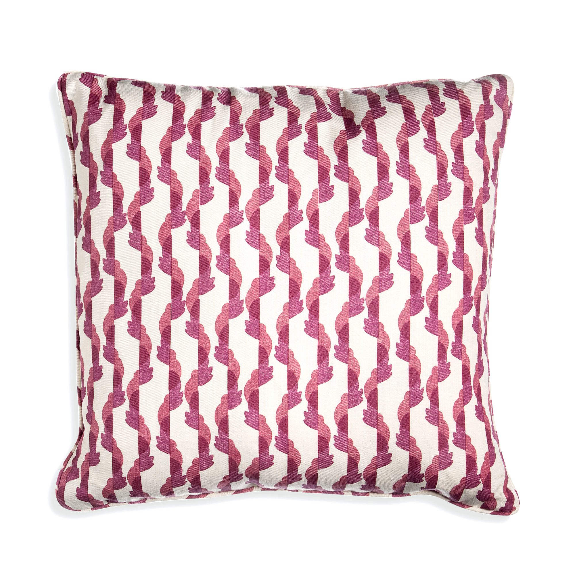 Small Square Cushion in Pink Botany