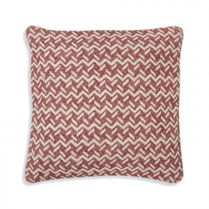 Large Square Cushion in Red Chiltern