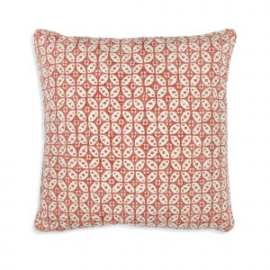 Large Square Cushion in Red Hamble