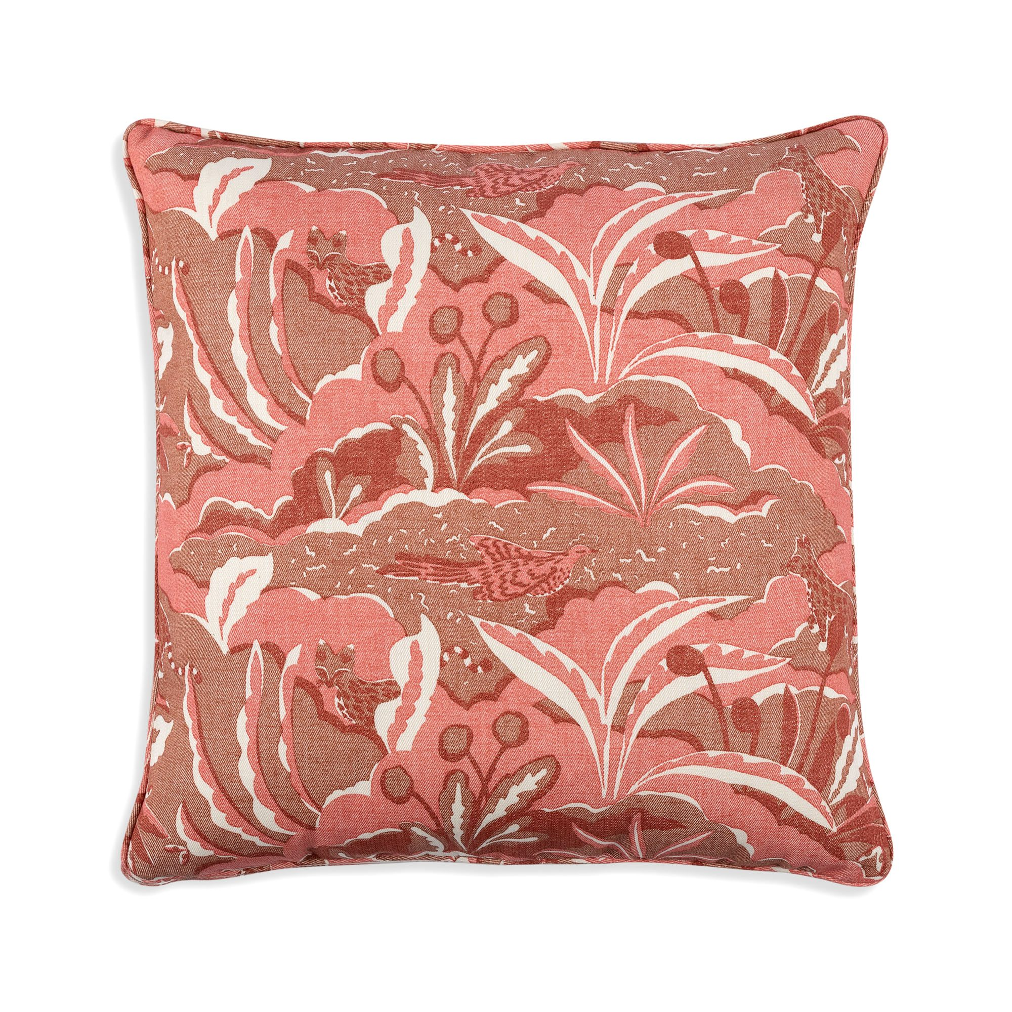 Small Square Cushion in Red Pangea
