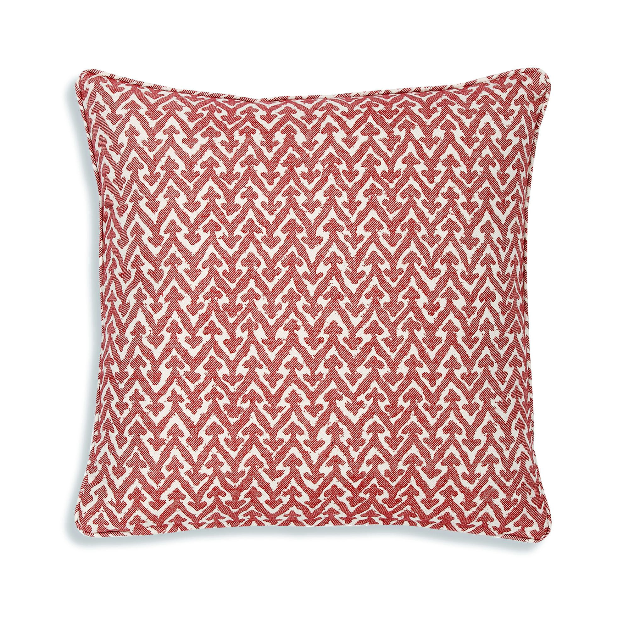 Small Square Cushion in Red Rabanna