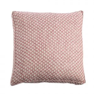 Box Cushion in Pink Wicker