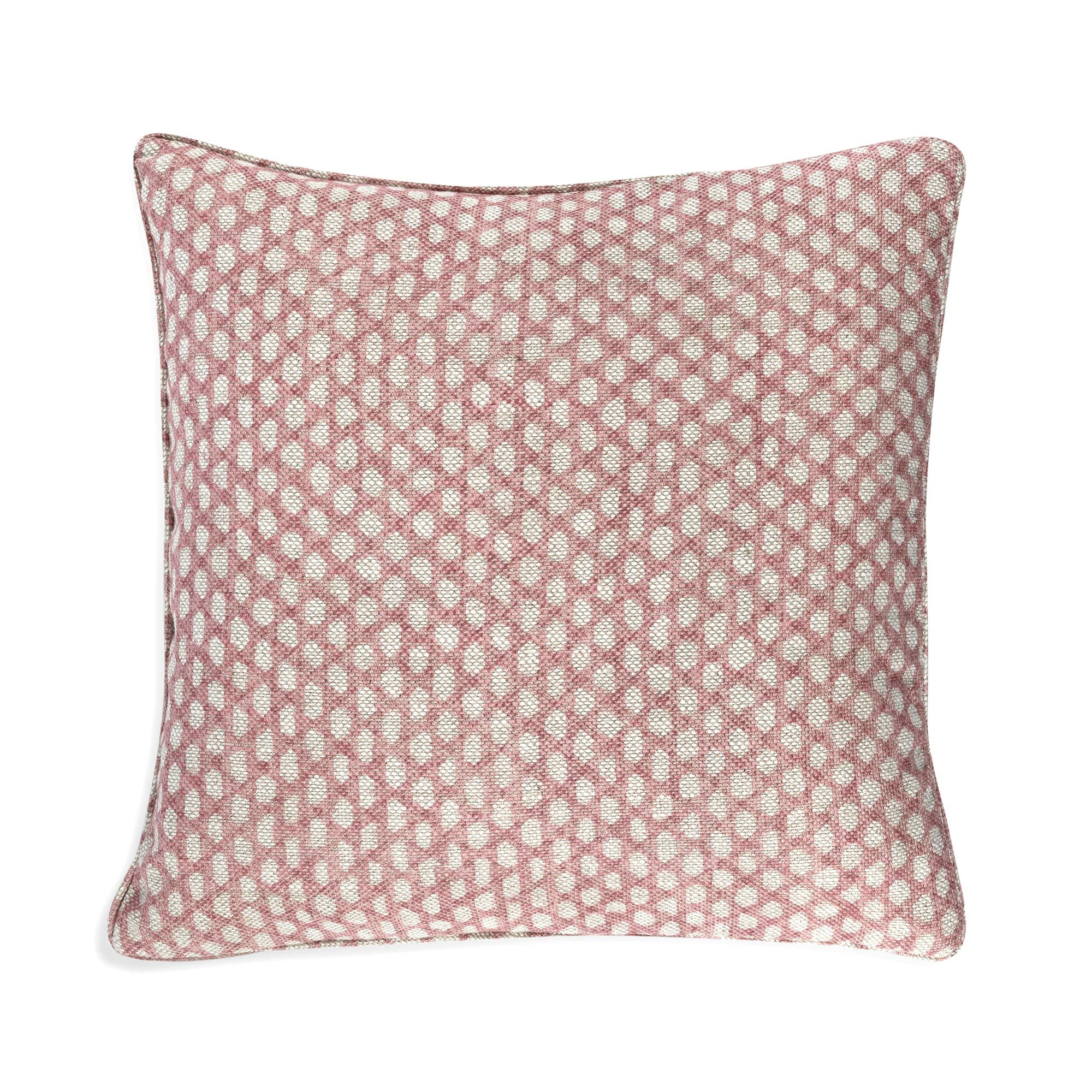 Small Square Cushion in Pink Wicker
