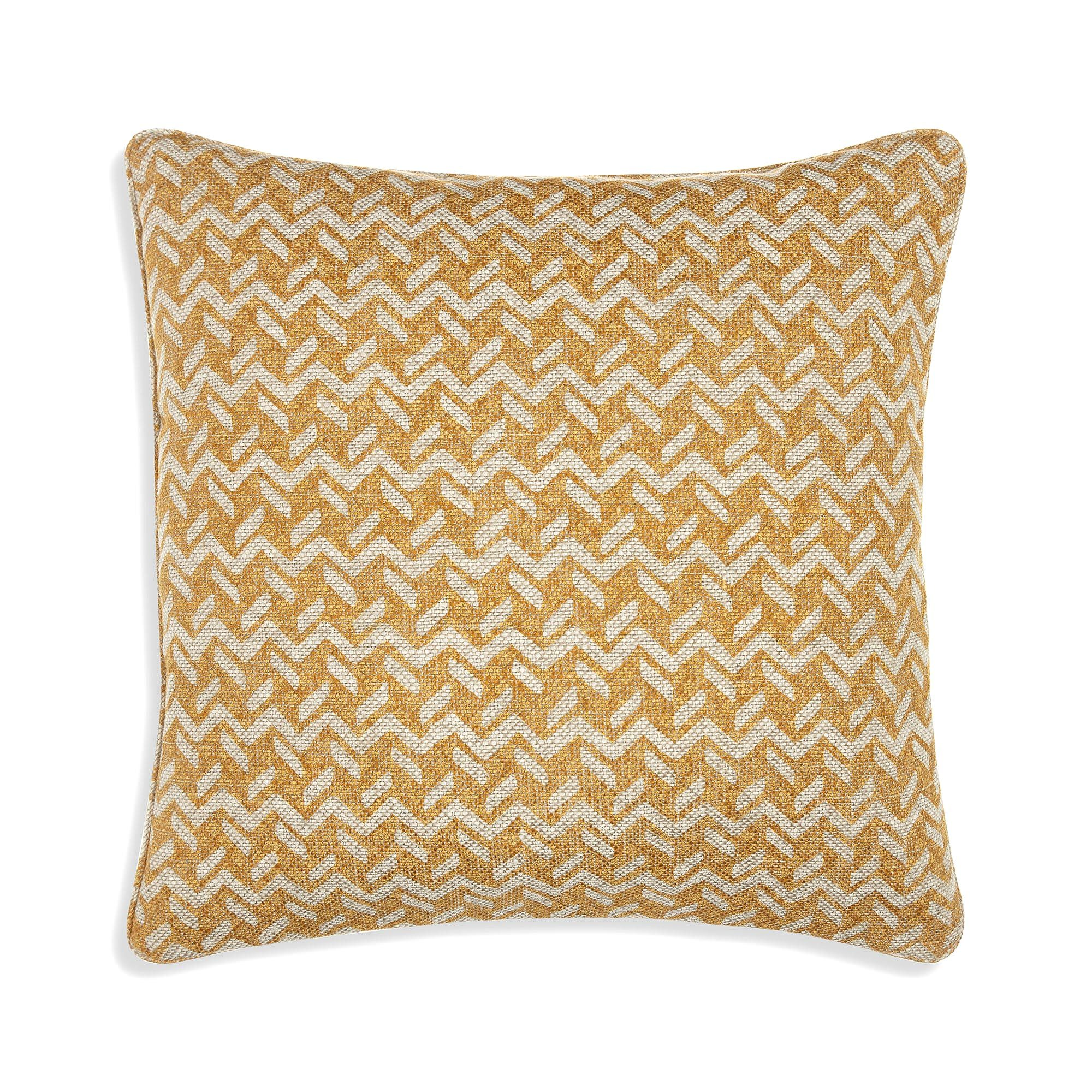 Small Square Cushion in Yellow Chiltern