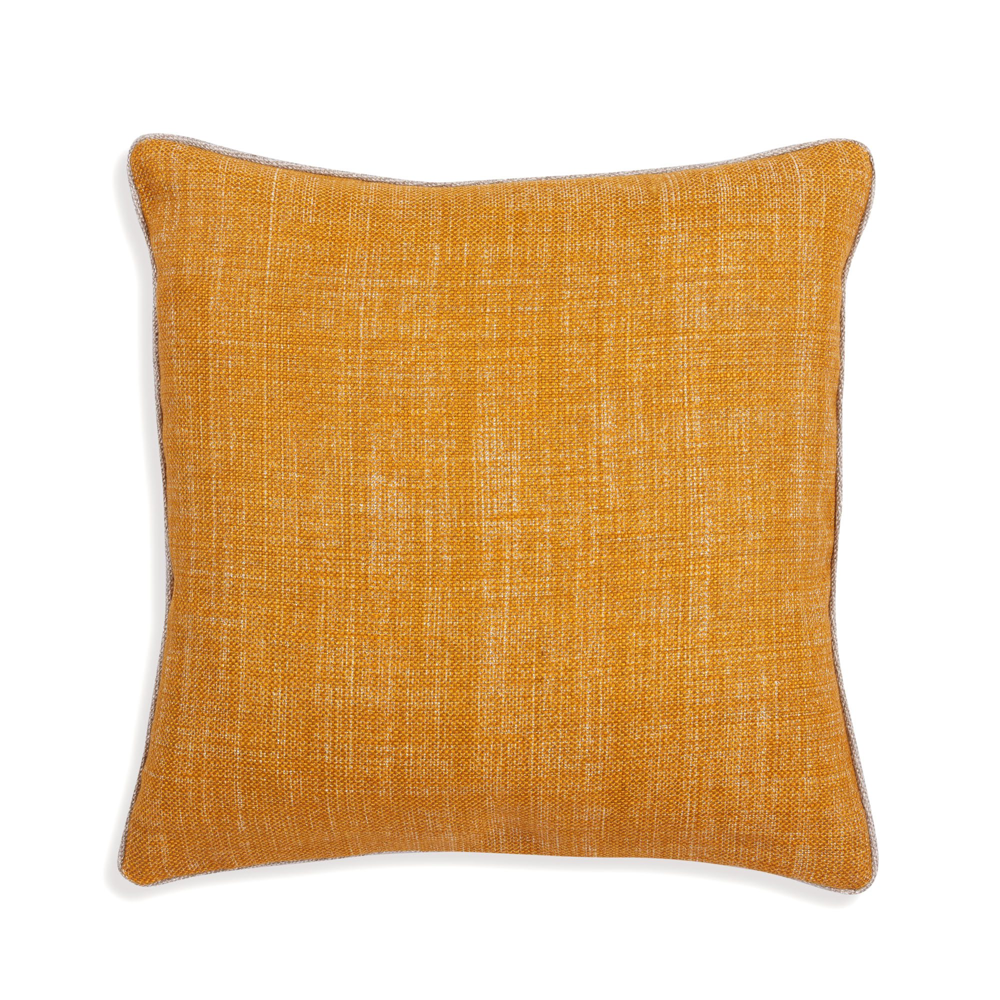 Small Square Cushion in Club Yellow