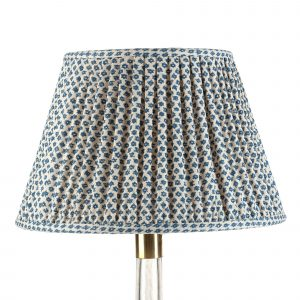 Empire Gathered Lampshade in Blue Marden 019-1