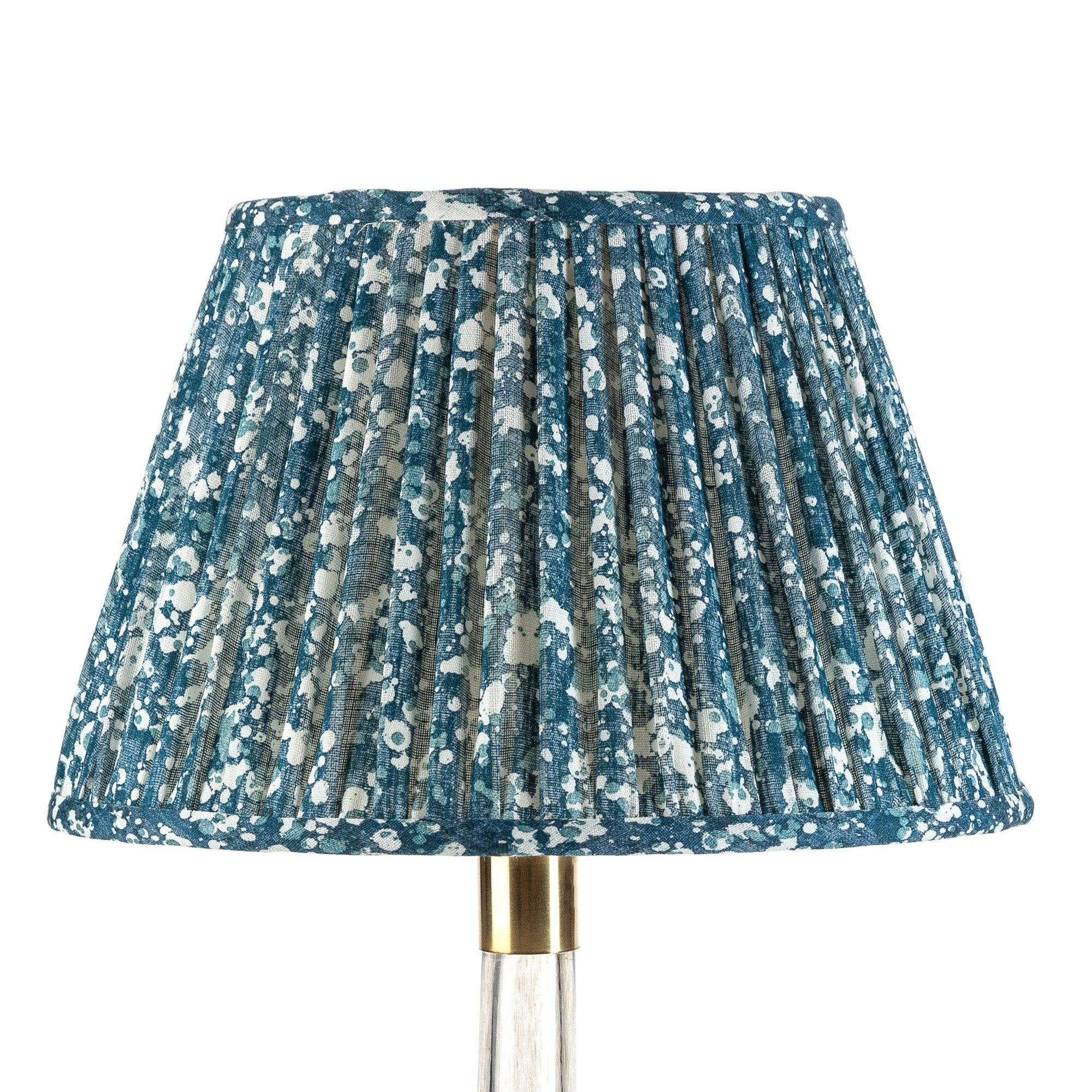Empire Gathered Lampshade in Blue Quartz 058-1