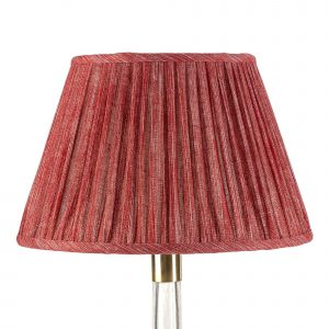 Empire Gathered Lampshade in Carpet Slipper Plain 038-1