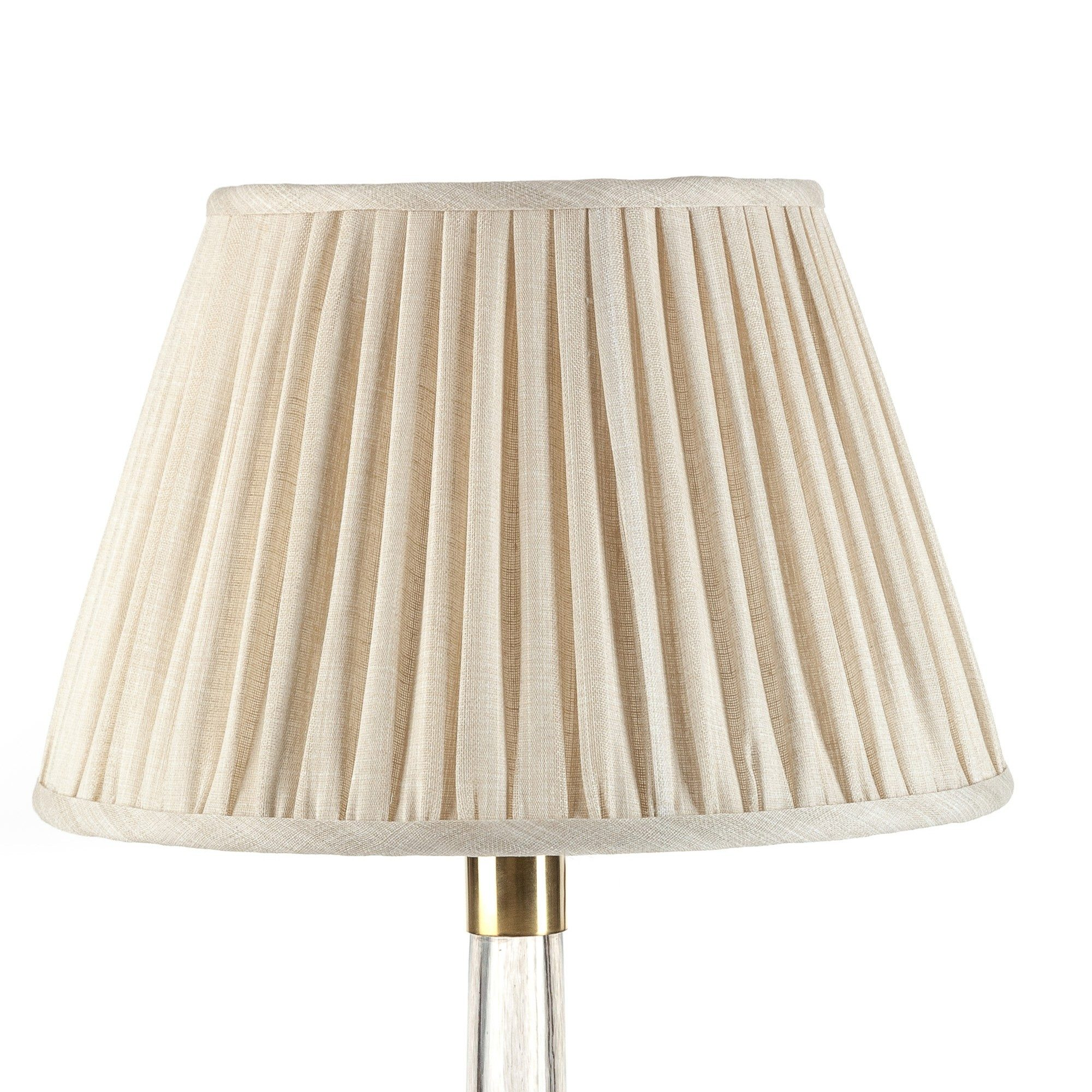 Empire Gathered Lampshade in Cream Moire 035-1