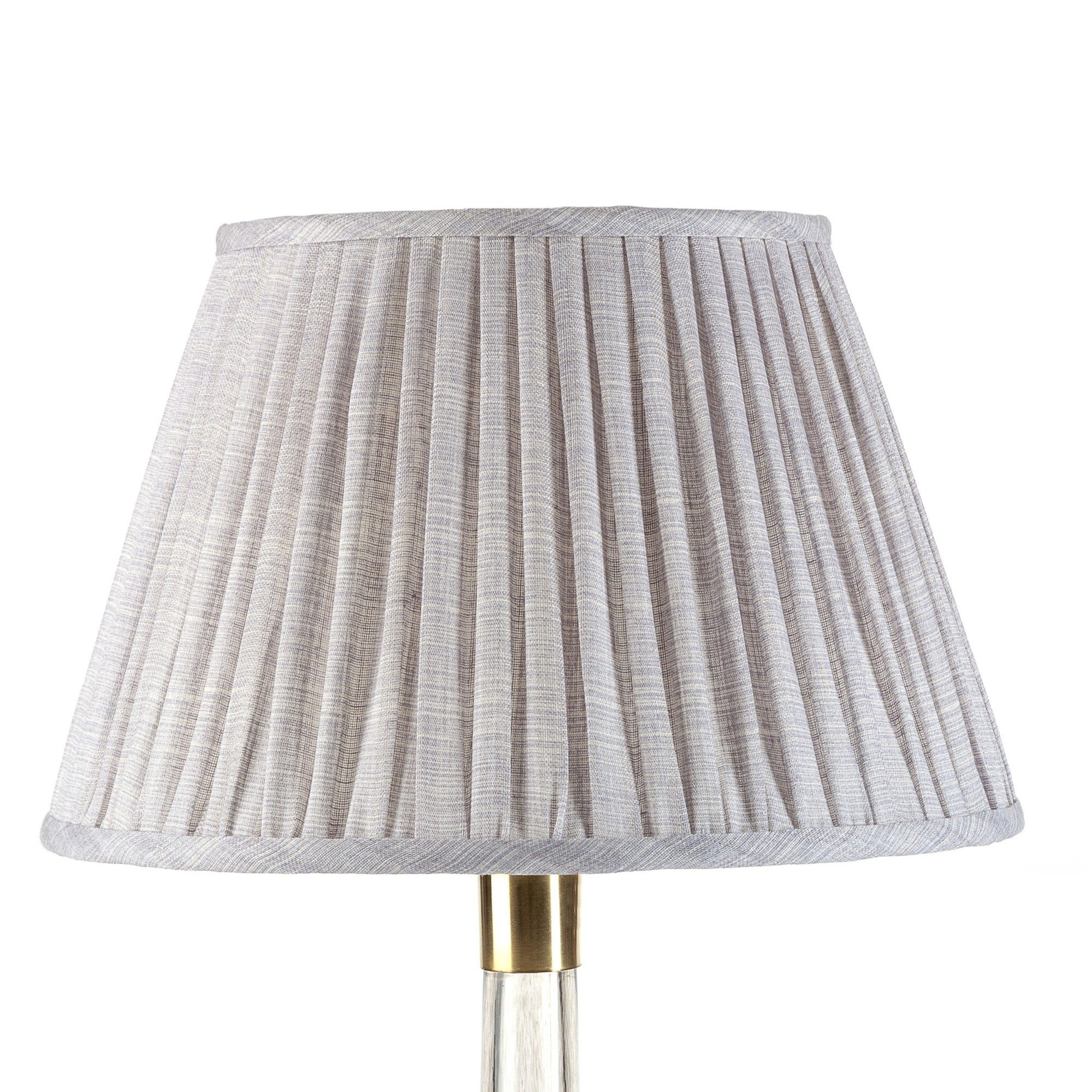 Empire Gathered Lampshade in Pewter Moire 045-1