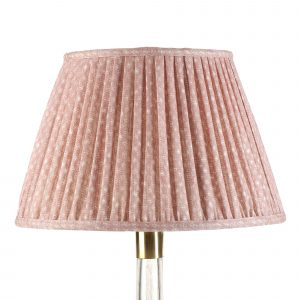 Empire Gathered Lampshade in Pink Figured 027-1