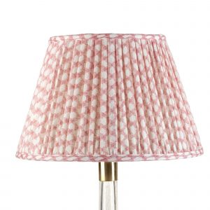 Empire Gathered Lampshade in Pink Wicker 062-1