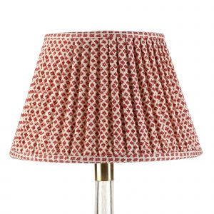 Empire Gathered Lampshade in Red Marden 016-1