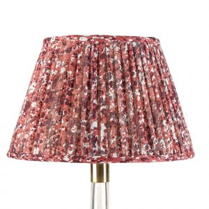 Empire Gathered Lampshade in Red Quartz 061-1