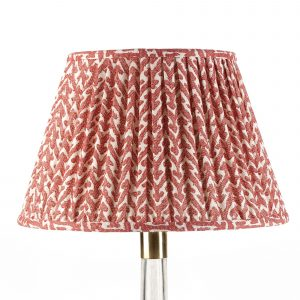Empire Gathered Lampshade in Red Rabanna 007-1