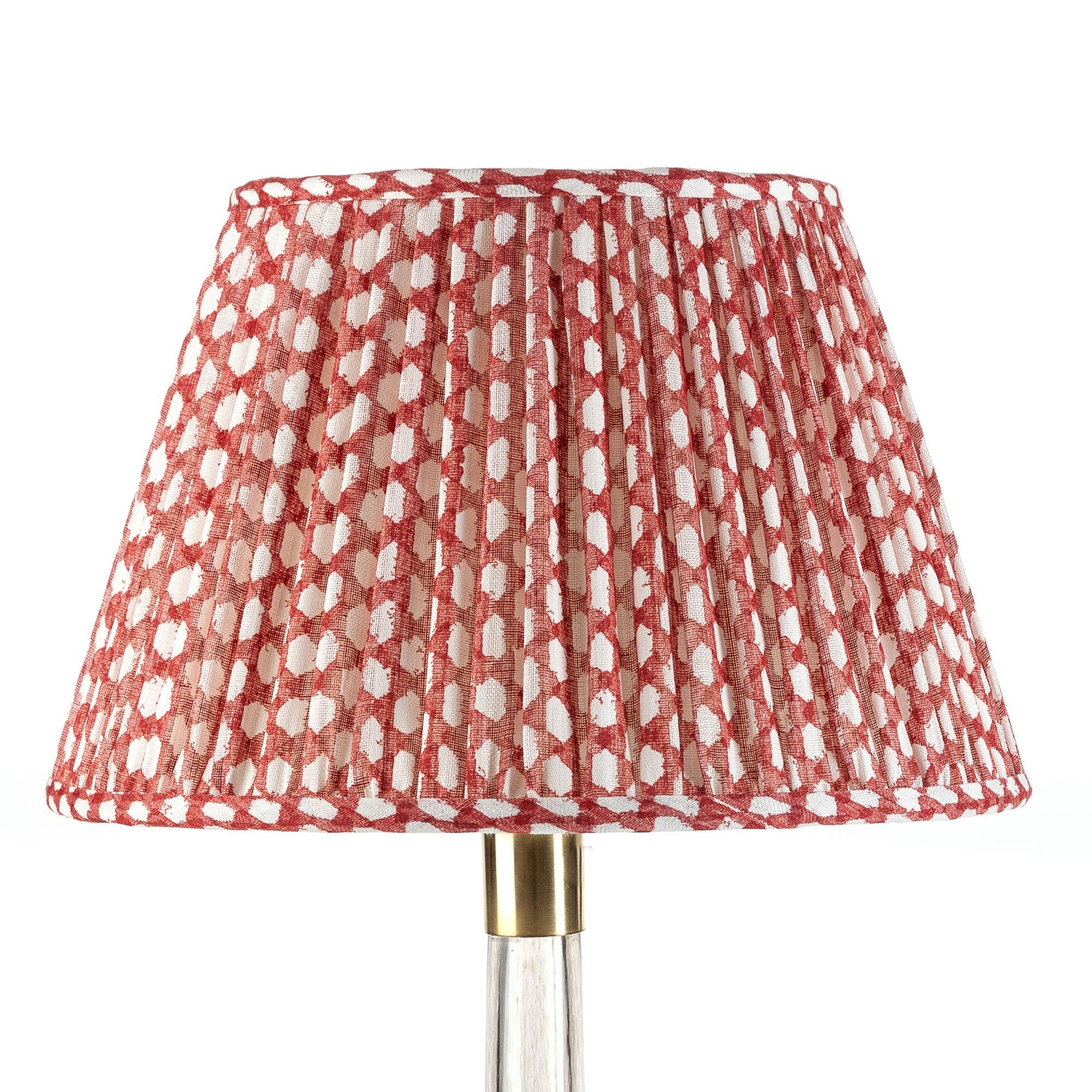 Empire Gathered Lampshade in Red Wicker 022-1