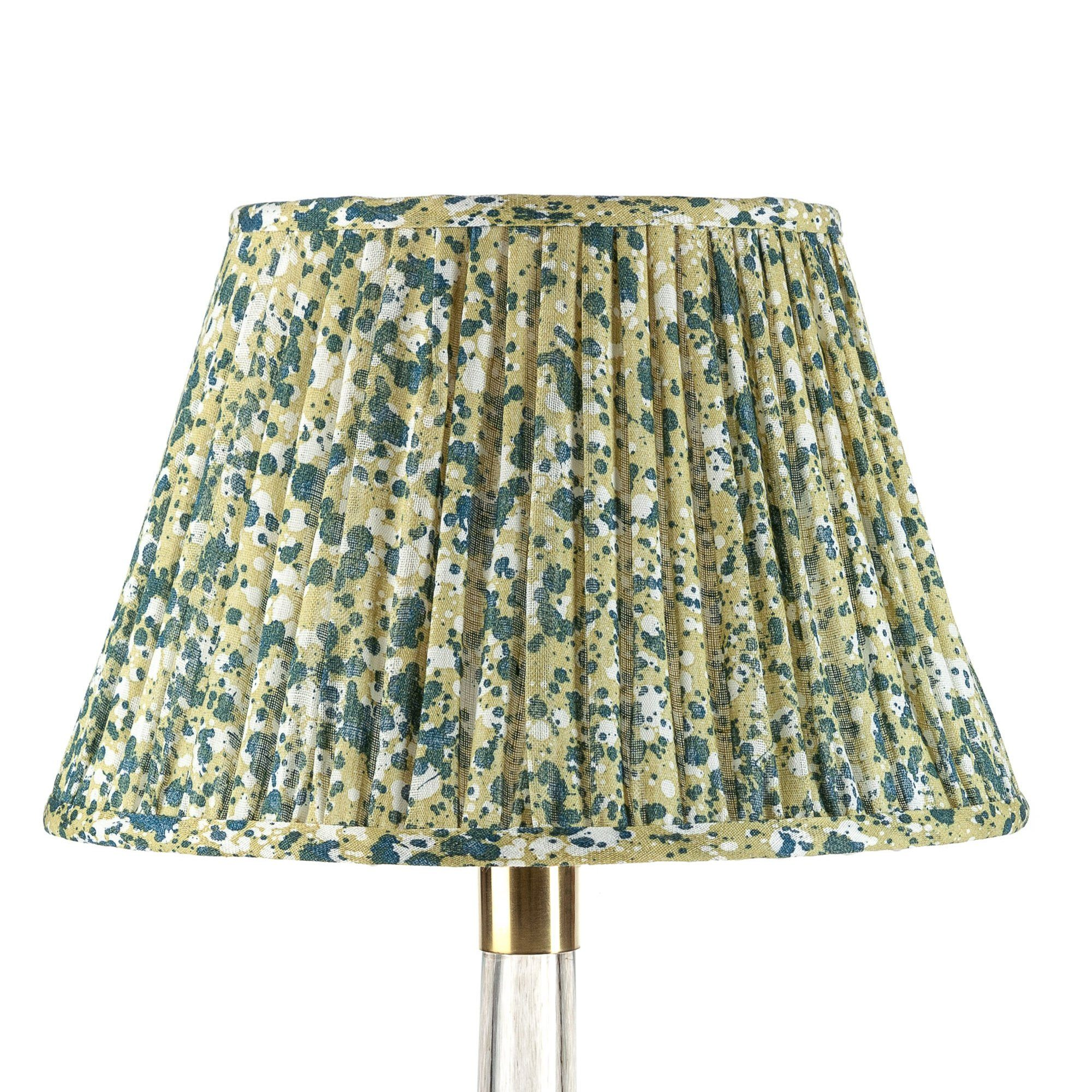 Empire Gathered Lampshade in Yellow Quartz 056-1