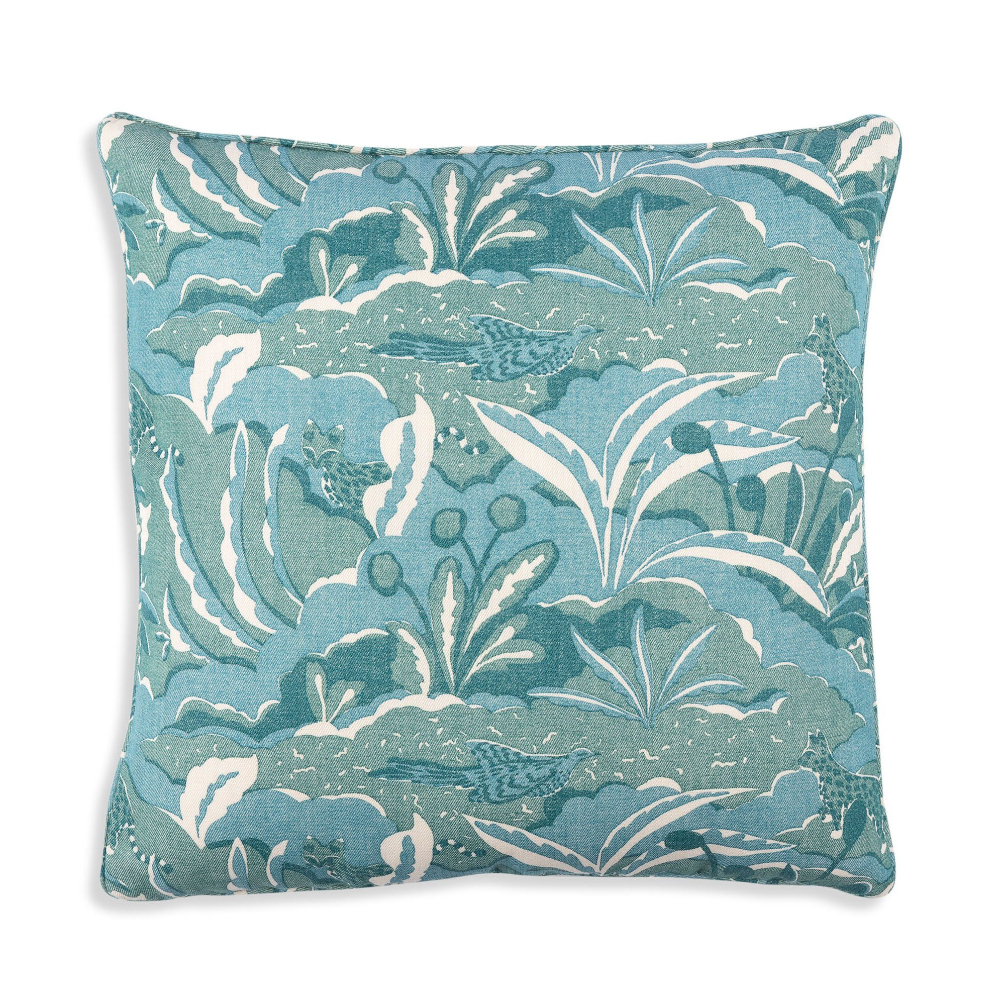 Small Square Cushion in Green Pangea