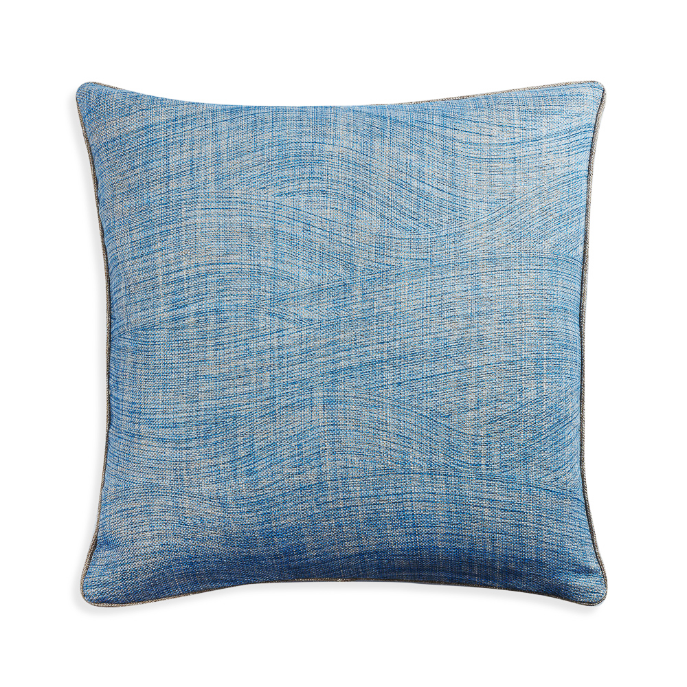 Large Square Cushion in Blue Wave