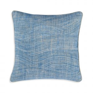 Small Square Cushion in Blue Wave