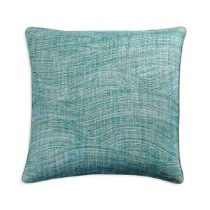 Large Square Cushion in Green Wave