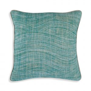 Small Square Cushion in Green Wave
