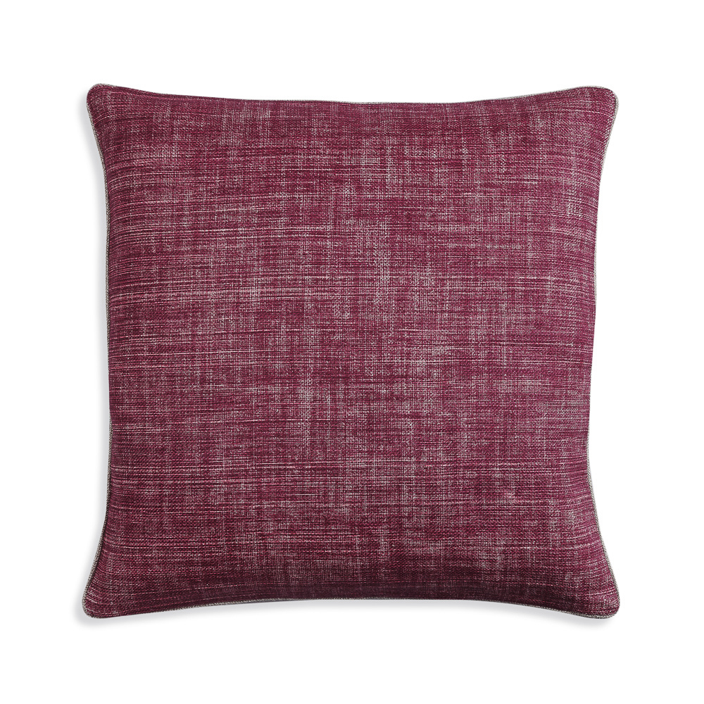 Large Square Cushion in Back to the Fuchsia