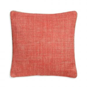 Small Square Cushion in Tickled Pink