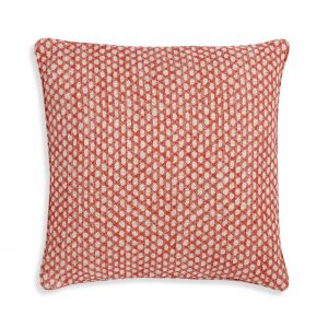 Small Square Cushion in Red Wicker