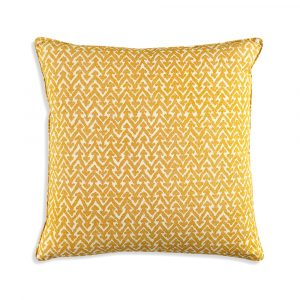 Large Square Cushion in Yellow Rabanna